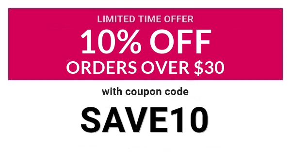 Save 10% On Orders Over $30 With Coupon Code SAVE10