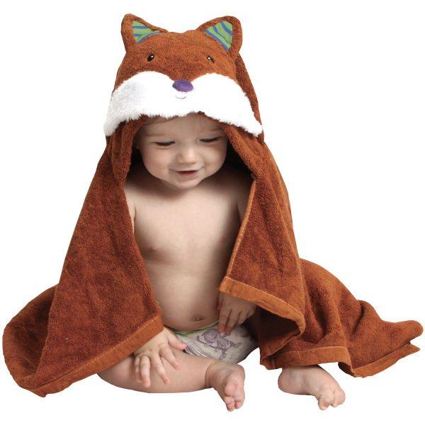 AM PM Kids Fox Baby Hooded Towel