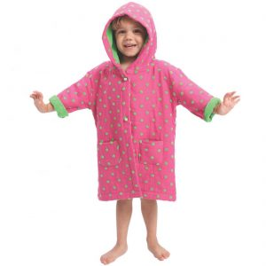 AM PM Kids Hot Pink Muslin Hooded Robe (1-3 Years)