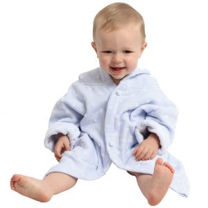 AM PM Kids Light Blue Muslin Hooded Robe (3-5 Years)