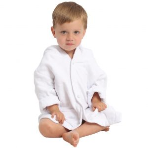 AM PM Kids White Muslin Hooded Robe (1-3 Years)