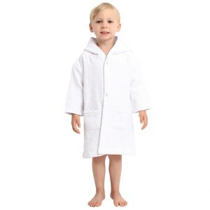 AM PM Kids White Muslin Hooded Robe (3-5 Years)