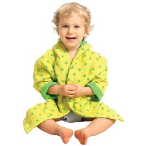 AM PM Kids Yellow Muslin Hooded Robe (1-3 Years)
