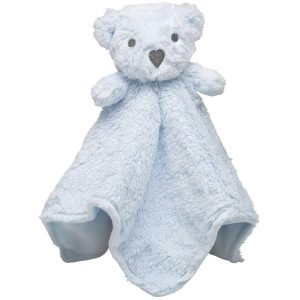 Elegant Baby Blue Bear Blankie (15 x 15)