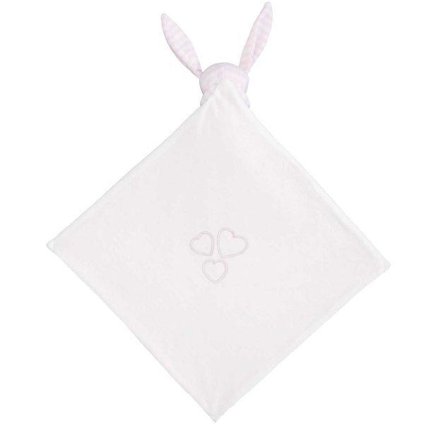 Elegant Baby Striped Pink Bunny Blankie
