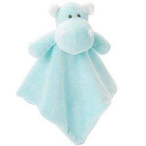 Elegant Baby Hippo Blankie (10 x 10)