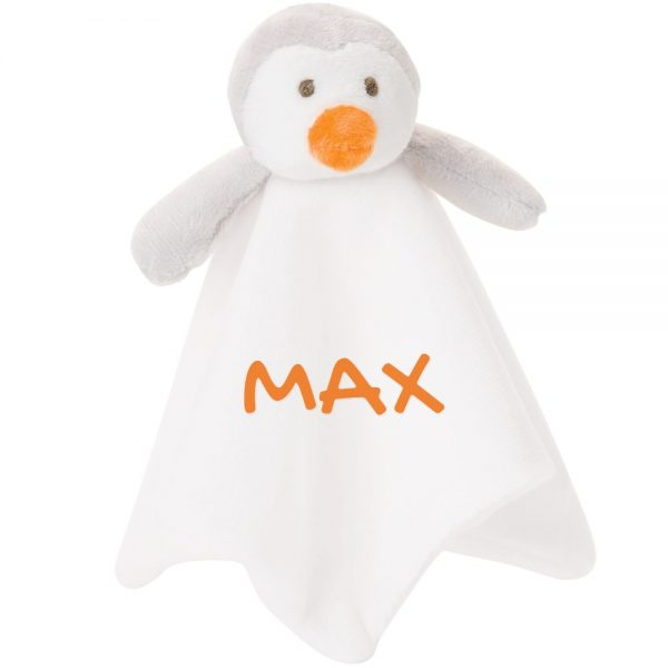 10 Inch Penguin Blankie Lovie Security Blanket With Personalization