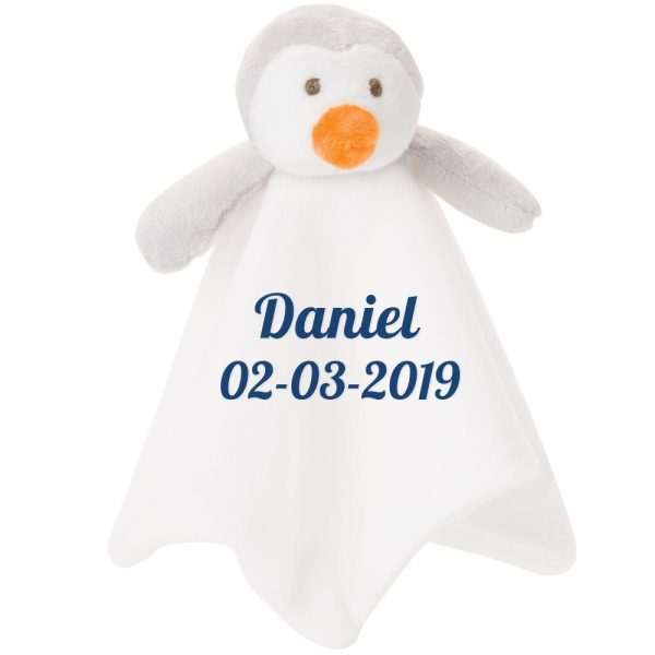 Personalized 10 Inch Penguin Blankie Lovey Security Blanket For Babies
