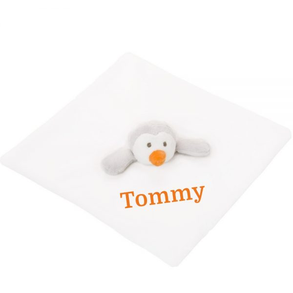 Personalized 10 Inch Penguin Blankie Lovey Blanket For Babies