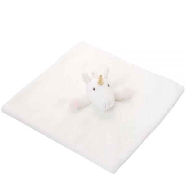 Elegant Baby Velboa Unicorn Baby Security Blanket (10 Inch)