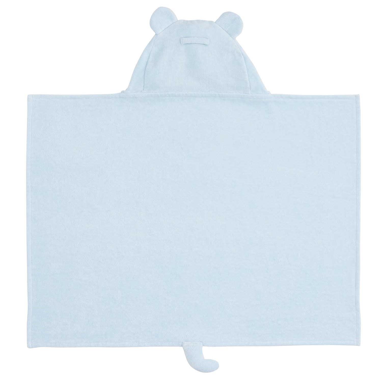 Elegant Baby Blue Bear Hooded Towel