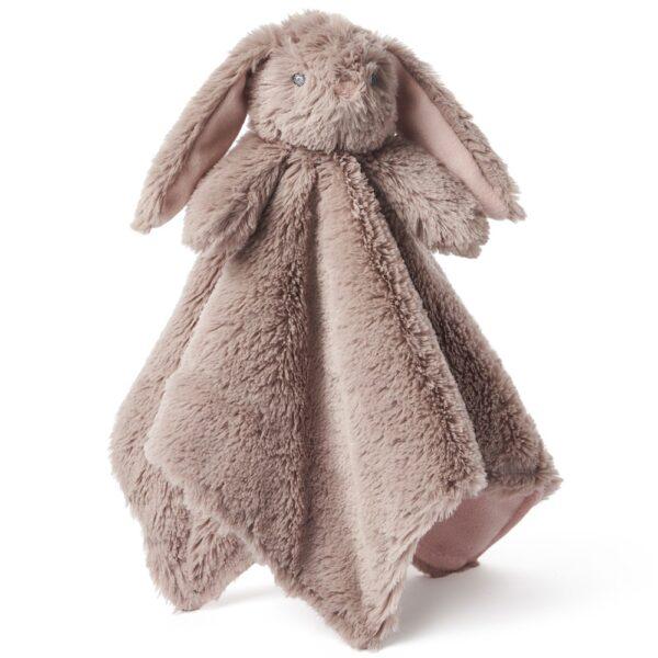 Elegant Baby Brown Bunny Lovie Security Blanket