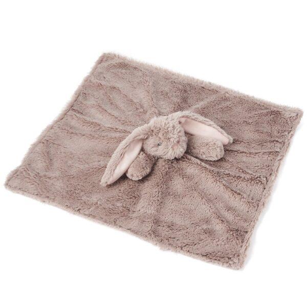 Brown Bunny Lovey Security Blanket By Elegant Baby