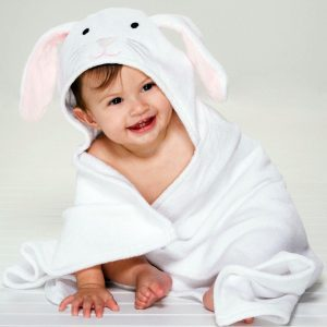 Elegant Baby Bunny Hooded Towel