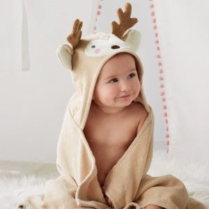 Elegant Baby Deer Hooded Towel
