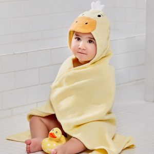 Elegant Baby Duck Hooded Towel