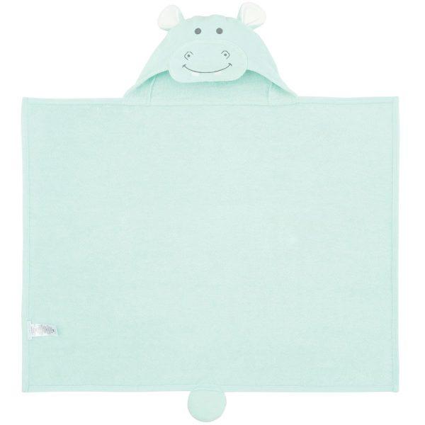 Elegant Baby Hippo Hooded Towel