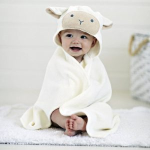 Elegant Baby Lamb Hooded Towel