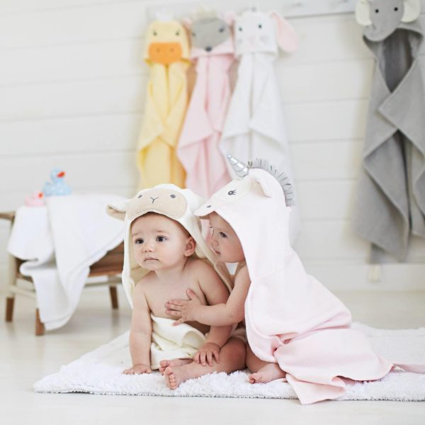 Elegant Baby Lamb Hooded Towel