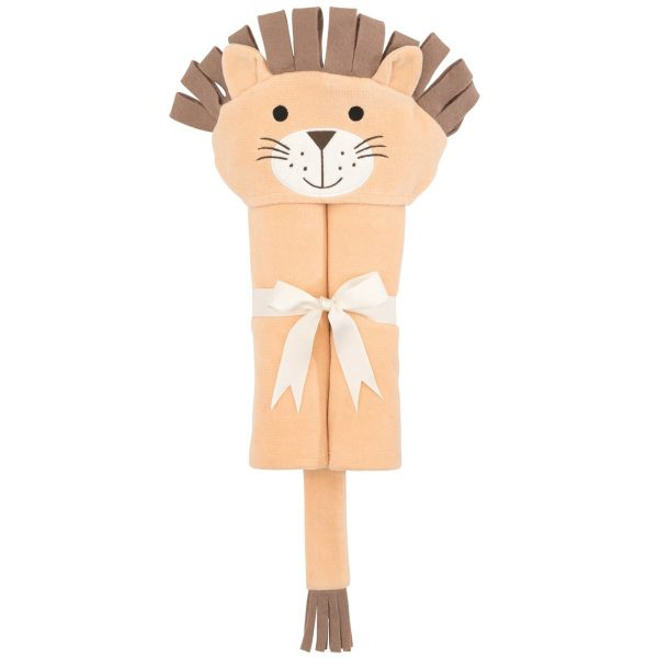 Elegant Baby Lion Hooded Towel