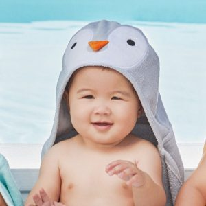Elegant Baby Penguin Hooded Towel