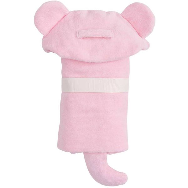 Elegant Baby Pink Bear Hooded Towel