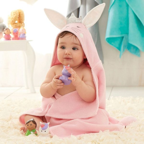 Elegant Baby Princess Bunny Hooded Towel