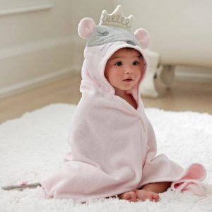 Elegant Baby Princess Mouse Hooded Towel