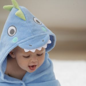 Elegant Baby Sea Serpent Hooded Towel