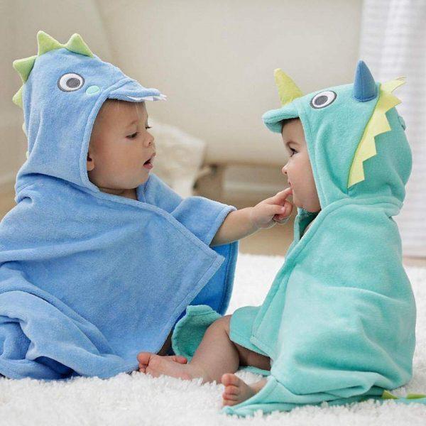 Elegant Baby Sea Serpent Hooded Towel