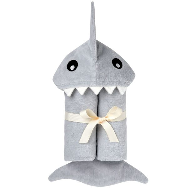 Elegant Baby Shark Hooded Towel