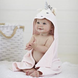 Elegant Baby Unicorn Hooded Towel
