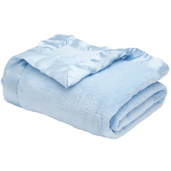 Elegant Baby Blue Coral Fleece Blanket
