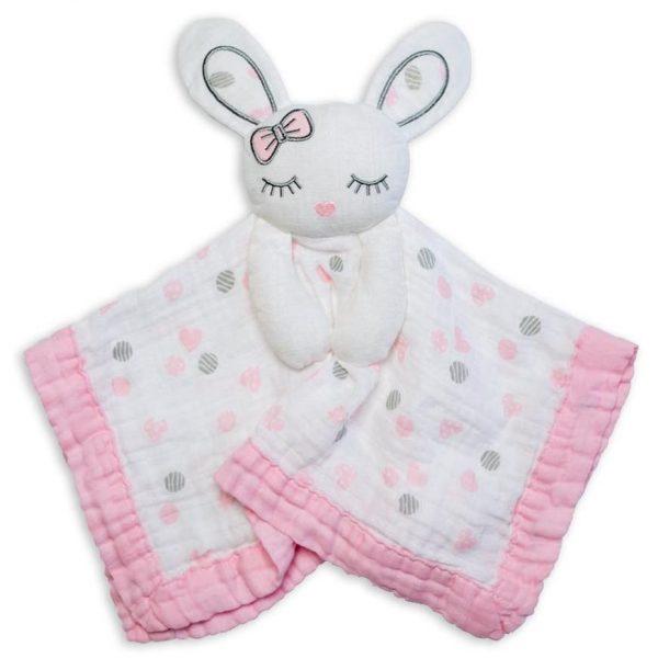 Lulujo Bunny Lovie Security Blanket