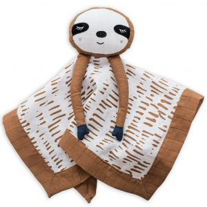 Lulujo Sloth Muslin Lovie (15 x 15)