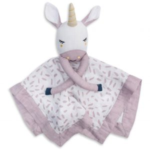 Lulujo Unicorn Muslin Lovie (15 x 15)
