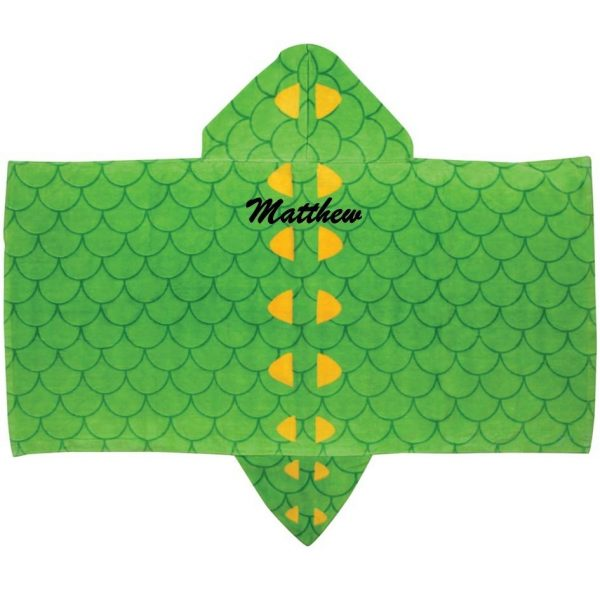 Stephen Joseph Alligator Hooded Towel Personalized On The Back