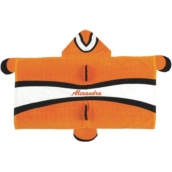 Stephen Joseph Clownfish Hooded Towel Personalized On The Back