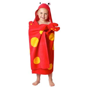 Stephen Joseph Crab Hooded Towel