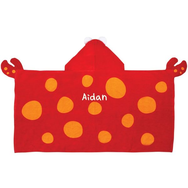 Stephen Joseph Crab Hooded Towel Personalized On The Back