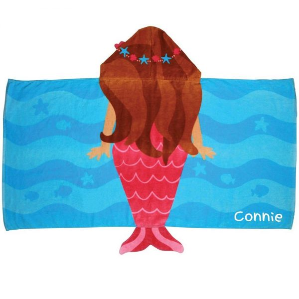 Stephen Joseph Mermaid Hooded Towel Personalized On The Side