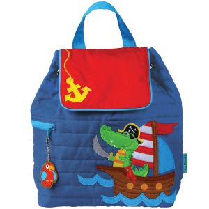 Stephen Joseph Alligator Pirate Quilted Backpack