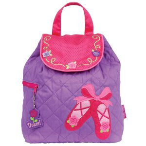 Stephen Joseph Ballet Shoes Quilted Backpack