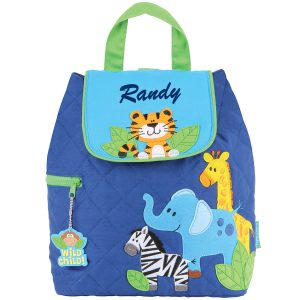 Stephen Joseph Boy Zoo Quilted Backpack