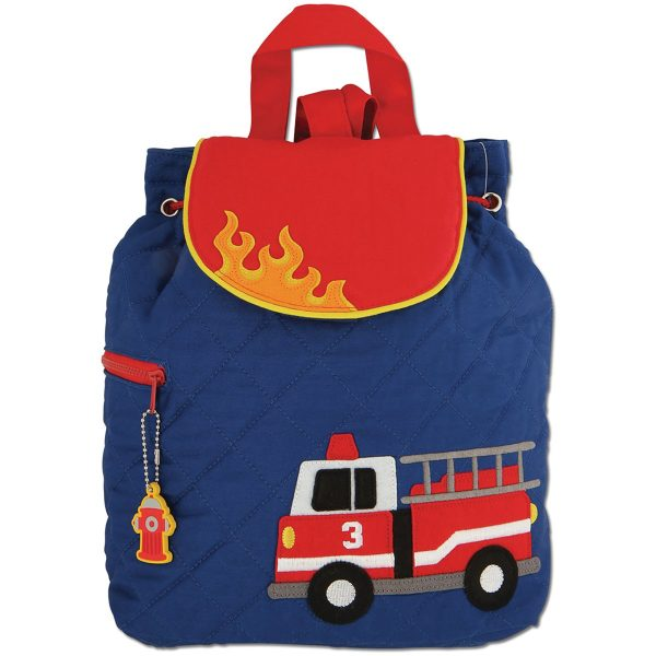 Stephen Joseph Fire Truck Quilted Backpack