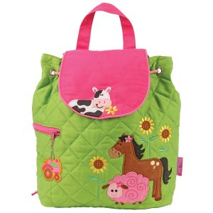 Stephen Joseph Girl Farm Quilted Backpack