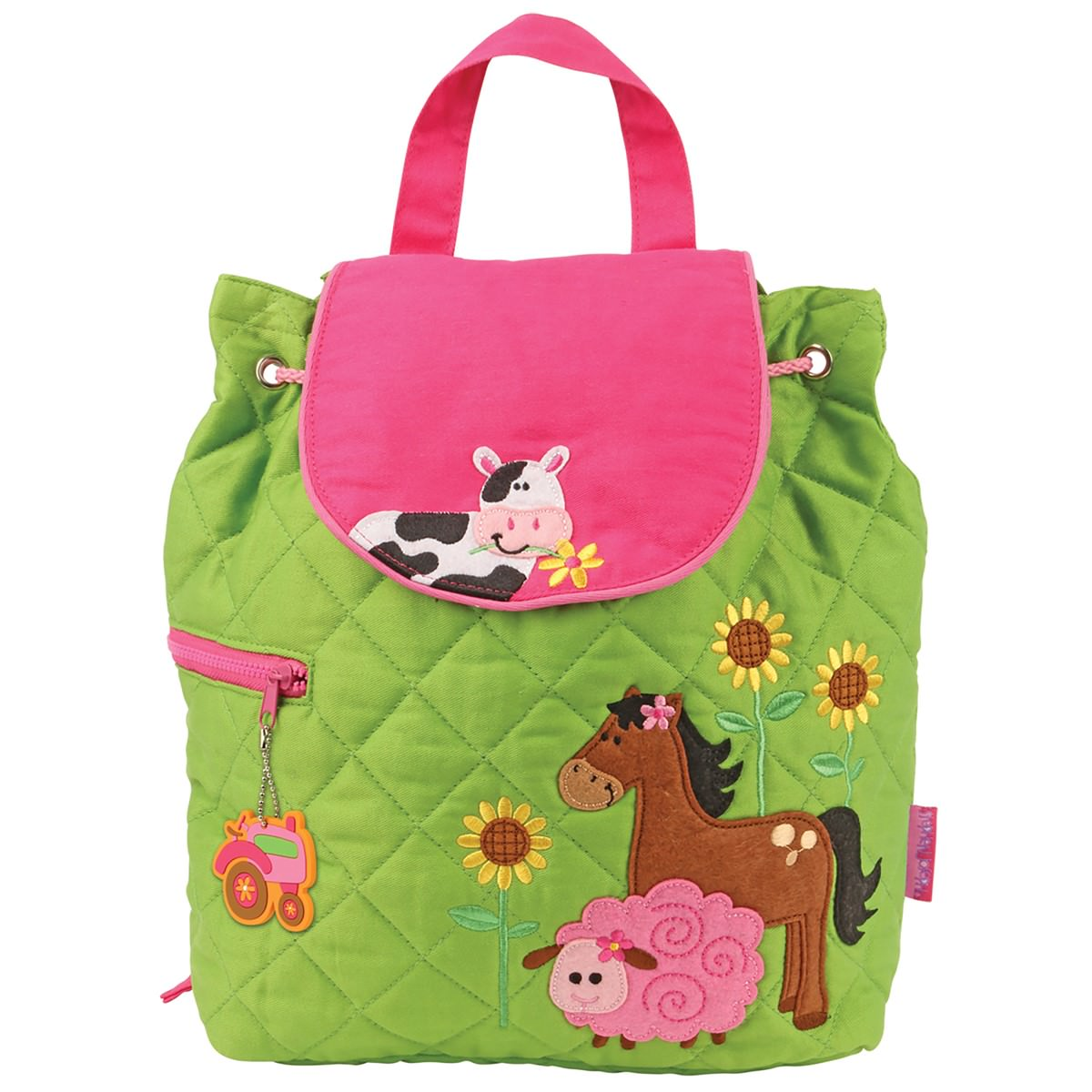 b98911371999 Stephen Joseph Girl Farm Quilted Backpack - Stitch Sensations