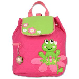 Stephen Joseph Girl Frog Quilted Backpack