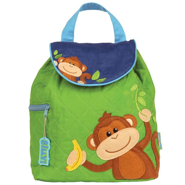 Stephen Joseph Monkey Quilted Backpack