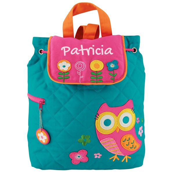 Stephen Joseph Owl Quilted Backpack With Personalization